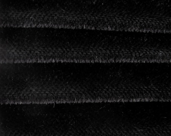 Quality 600S - Mohair - 1/3 yard in Intercal's Color 124-Black. A German Mohair Fur Fabric for Teddy Bear Making, Arts & Crafts