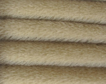 Quality 300S - Mohair - 1/3 yard in Intercal's Color 927S-Bone.  A German Mohair Fur Fabric for Teddy Bear Making, Arts & Crafts