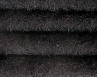Quality 300S/CM - Mohair-1/3 yard in Intercal's Color 124-Black. A German Mohair Fur Fabric for Teddy Bear Making, Arts & Crafts