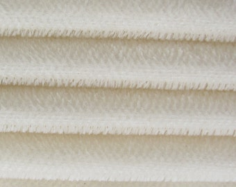 Quality 600S - Mohair - 1/3 yard in Intercal's Color 100-White. A German Mohair Fur Fabric for Teddy Bear Making, Arts & Crafts