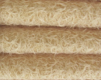 Quality 325S/CM - Mohair-1/6 yard (Fat) in Intercal's Color 573S-Buttercup. A German Mohair Fur Fabric for Teddy Bear Making, Arts & Crafts