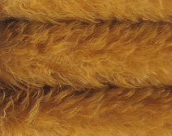 Quality KID9S/C - Mohair - 1/3 yard in Intercal's Color 711S-Caramel. A German KID-Mohair Fur Fabric for Teddy Bear Making, Arts & Crafts