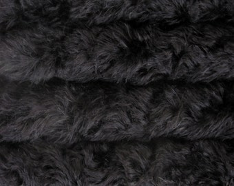 Quality 785S/C - Mohair - 1/6 yard (Fat) in Intercal's Color 124-Black. A German Mohair Fur Fabric for Teddy Bear Making, Arts & Crafts