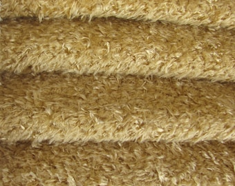 SAVE MONEY-9.95 Regular 19.35 Quality VIS2/SCM - Viscose -1/6 yard (Fat) in Intercal's Color 671S-Butternut. A German Teddy Bear Fur Fabric