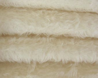 Quality 325S/C - Mohair - 1/6 yard (Fat) in Intercal's Color 100-White. A German Mohair Fur Fabric for Teddy Bear Making, Arts & Crafts