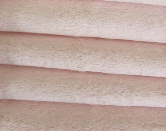 Quality VIS1 - Viscose -1/6 yard (Fat) in Intercal's Color 717S-Soft Pink. A German Viscose Fur Fabric for Teddy Bear Making, Arts & Crafts