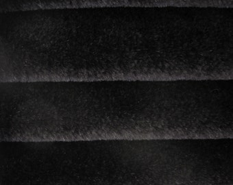 Quality 550S - Mohair - 1/6 yard (Fat) in Intercal's Color 124-Black.  A German Mohair Fur Fabric for Teddy Bear Making, Arts & Crafts