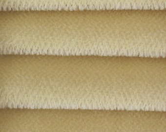 Quality 600S - Mohair - 1/6 yard (Fat) in Intercal's Color 528S-Cream. A German Mohair Fur Fabric for Teddy Bear Making, Arts & Crafts