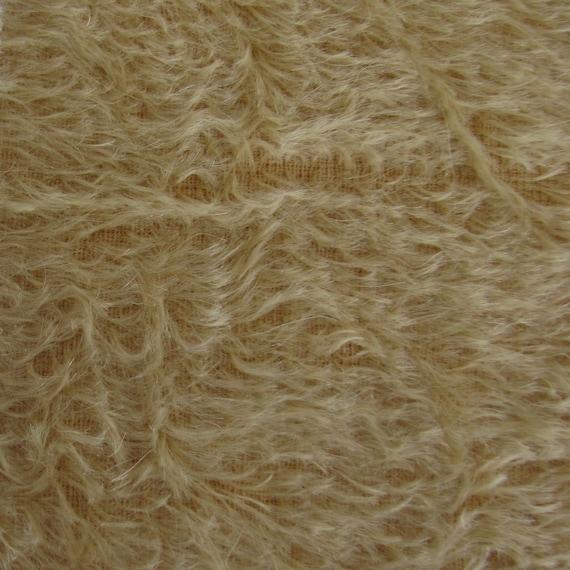 "1//4 yd 380V Oatmeal INTERCAL 1/"" Med-Dense Vintage Finish German Mohair Fabric"