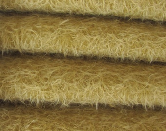 ETSY SPECIAL - 21.75 - Save Money - Quality 300S/CM - Mohair-1/4 yard (Fat) in Intercal's Color 202S-Vintage Gold. A German Mohair Fabric