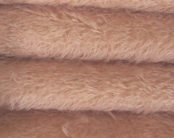 Quality 300S/C - Mohair - 1/6 yard (Fat) in Intercal's Color 588S-Pale Pink. A German Mohair Fur Fabric for Teddy Bear Making, Arts & Crafts