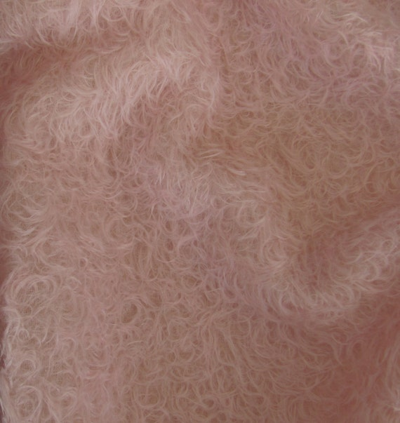 FREE U.S Mohair-13 yard in Intercal/'s Color 588S-Pale Pink SHIPPING Quality 325SCM A German Mohair Fur Fabric for Teddy Bear Making