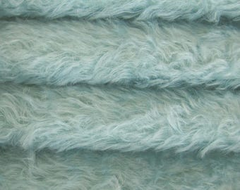 Quality 325S/C - Mohair - 1/6 yard (Fat) in Intercal's Color 799S-Baby Blue. A German Mohair Fur Fabric for Teddy Bear Making, Arts & Crafts