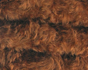 SAVE - 5.00 OFF - Quality 850VIS/WHIRL - Mohair/Viscose - 1/6 yard (Fat) in Intercal's Color 803S-Mahogany. German Mohair/Viscose Fur Fabric