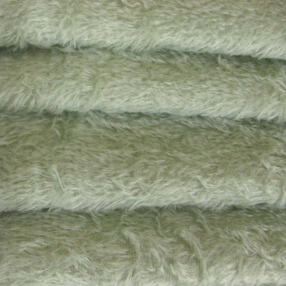"1//4 yd 300S White INTERCAL 1//2/"" Ultra-Sparse German Mohair Fur Fabric"