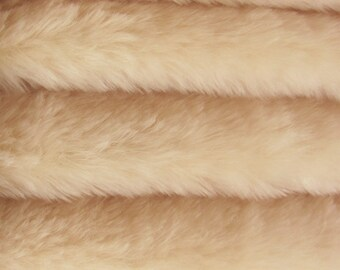 SAVE MONEY-23.65 Regular 30.35 Quality 830S - Mohair - 1/6 yard (Fat) in Intercal's Color 362S-Soft Champagne.A German Teddy Bear Fur Fabric