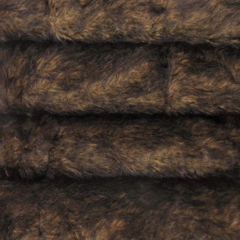 "1//6 yd 325S//C Buckwheat INTERCAL 5//8/"" Semi-Sparse Curly German Mohair Fur Fabric"