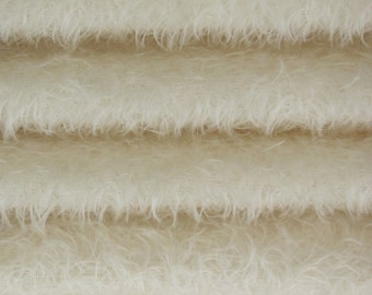 Quality 325S/CM - Mohair-1/3 yard in Intercal's Color 100-White. A German Mohair Fur Fabric for Teddy Bear Making, Arts & Crafts