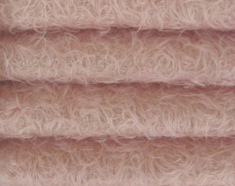 Quality 325S/CM - Mohair-1/6 yard (Fat) in Intercal's Color 588S-Pale Pink. A German Mohair Fur Fabric for Handmade Creations, Arts & Crafts