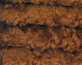 Quality 785S/C - Mohair - 1/6 yard (Fat) in Intercal's Color 593S-Bronze. A German Mohair Fur Fabric for Teddy Bear Making, Arts & Crafts