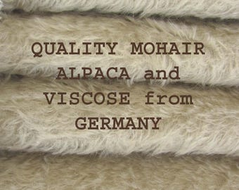 SAVE MONEY - 5.00 OFF - Quality 300S/C - Mohair - 1/6 yard (Fat) in Intercal's Color 149S-Dove. A Mohair Fur Fabric for Teddy Bear Making