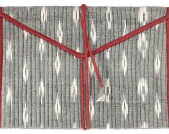 Sale on Fabric Ikkat Grey- iPad sleeve Envelope style, ipad cover,ipad case, christmas gift