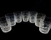 Waterford Lismore Double Old Fashioned Glasses Set of Seven 4 1 2 39 39 Near Minted Condition Acid Mark