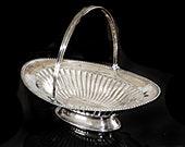 Georgian English Sterling Silver Oval Basket London, Robert Henell,I Ca 1790 George III Large 16 39 39 L