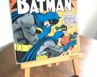 Vintage Batman Ceramic Tile Wall Plaque