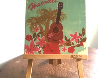 Vintage Hawaii Ceramic Tile Wall Plaque