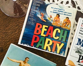 Ceramic Tile Coasters - Retro Beach Party