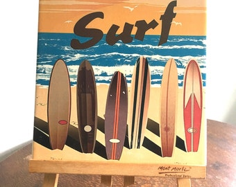 Vintage surf Ceramic Tile Wall Plaque