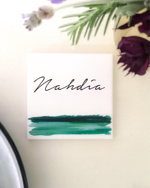 Ceramic Tile Coasters - custom wedding favours