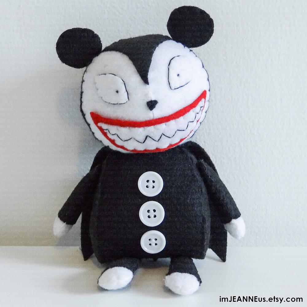 Vampire Teddy Plush inspired by Disney\'s Nightmare before   Etsy
