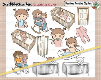 Bedtime Routines Toddler ClipArt