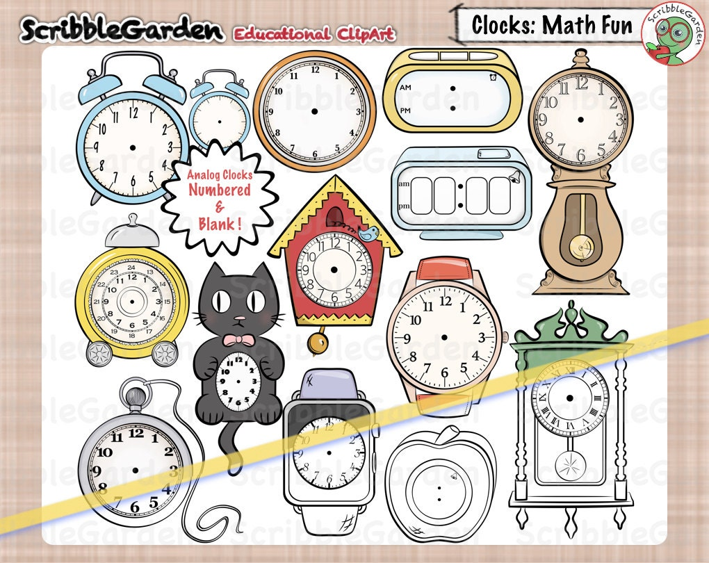 clocks math fun | etsy