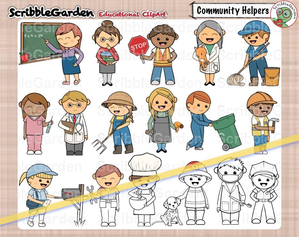Imágenes Prediseñadas de ayudantes comunitarios | Etsy