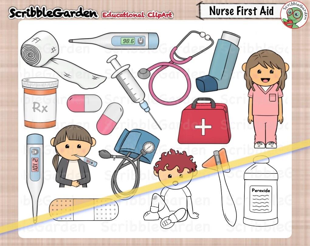 Krankenschwester-erste-Hilfe-ClipArt   Etsy