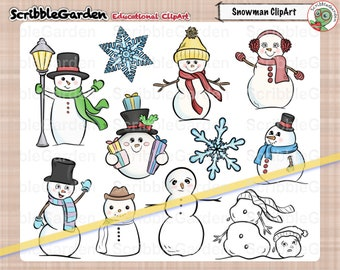 Snowman Fun Winter ClipArt