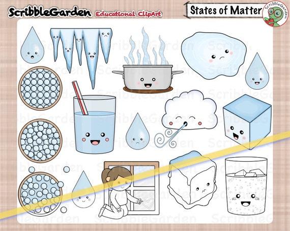 Zustände der Materie Science ClipArt   Etsy