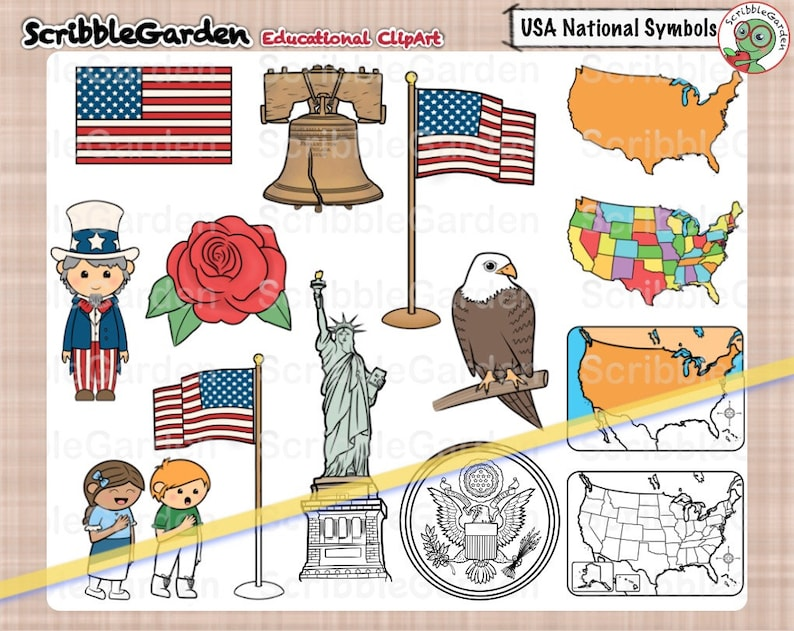 USA National Symbols ClipArt image 0