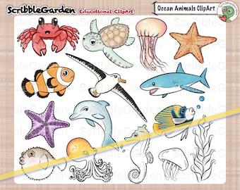 Habitat Animals: Oceans ClipArt