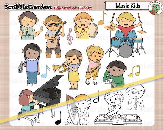 Music Class Kids ClipArt