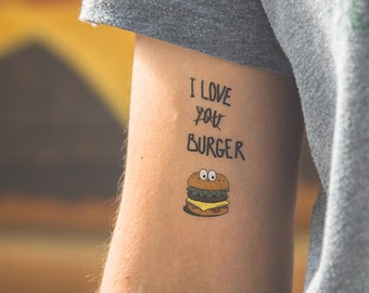 TEMPORARY TATTOO - burger