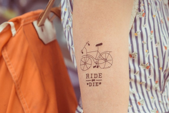 Temporary Tattoo Ride Or Die Etsy