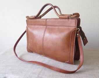 c51f9c521e Brown Genuine Leather Leather Messenger Bag Handbag Document Map Office Bag   Boxca  Made in Denmark  228-116