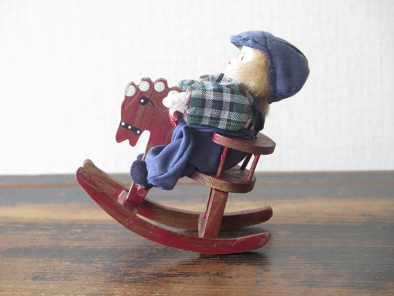 Cool Vintage Scandinavian Boy On Wooden Rocking Horse Chair Swedish Figurine Library Decor 228 10 Andrewgaddart Wooden Chair Designs For Living Room Andrewgaddartcom