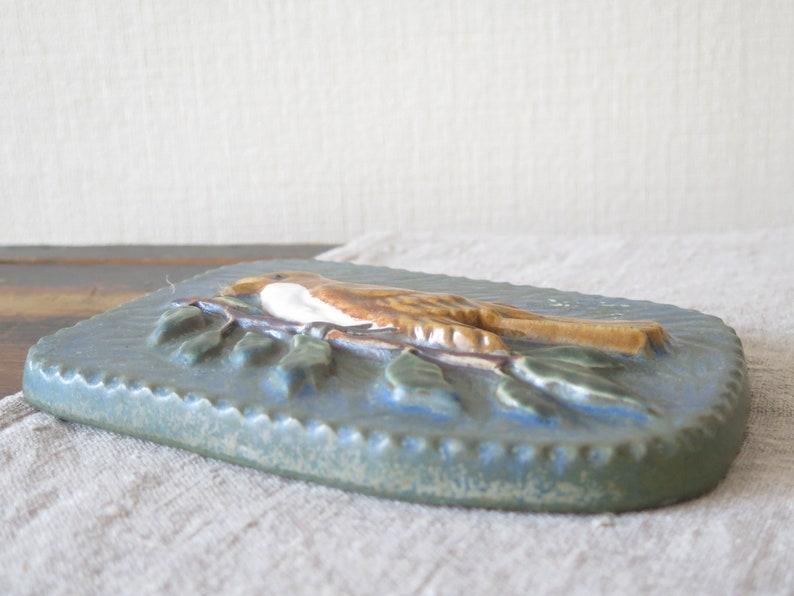Ceramic Wall Picture by Willi Fischer Ego Stengods Lidk\u00f6ping Ceramic Bird Plaque Scandinavian Design Ceramic Wall Hanging @250-10