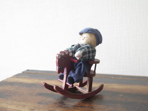 Marvelous Vintage Scandinavian Boy On Wooden Rocking Horse Chair Swedish Figurine Library Decor 228 10 Andrewgaddart Wooden Chair Designs For Living Room Andrewgaddartcom