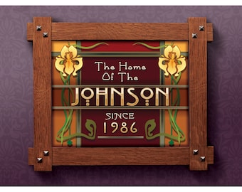 Customizable print The home of YOUR NAME Since DATE